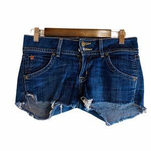 Hudson Jean Shorts Unfinished Raw Hem Size: 26
